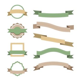 Ensemble de conception d'insigne pastel