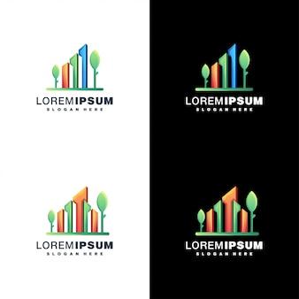 Ensemble de conception de logo immobilier