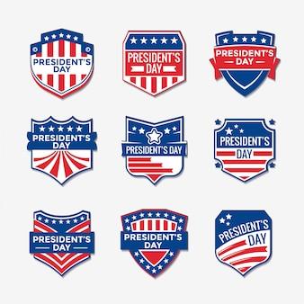 Ensemble de conception de logo de la journée du président