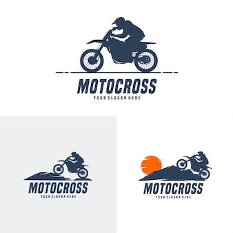 Ensemble de conception de logo de motocross