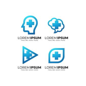 Ensemble de conception de logo de santé médicale