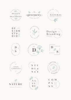 Ensemble de conception de logo