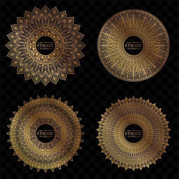 Ensemble de conception de mandala de cercle