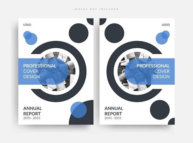Ensemble de conception de mise en page de couverture de livre d'entreprise de rapport annuel