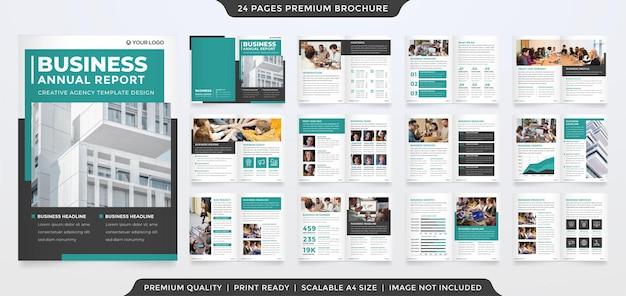 Ensemble de conception de modèle de brochure pliante polyvalente avec un style minimaliste et une mise en page propre
