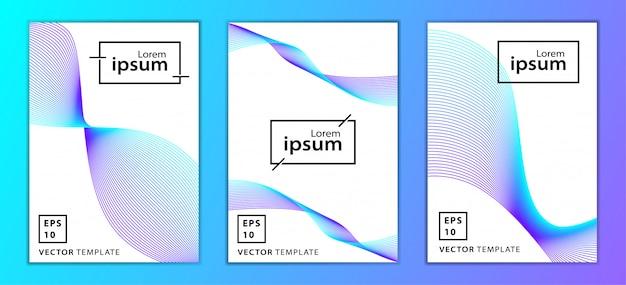 Ensemble de conception de modèle de couverture minimale des entreprises, couleur bleue