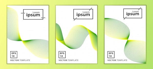 Ensemble de conception de modèle de couverture minimale des entreprises, couleur verte