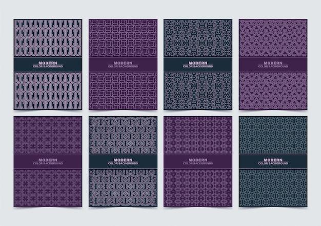 Ensemble de conception de modèle de couvertures minimales abstraites modernes.