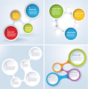 Ensemble de conception de modèle infographique tout simplement minimal.