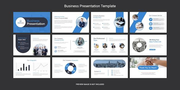 Ensemble de conception de modèles de diapositives de présentation powerpoint d'entreprise créative et moderne