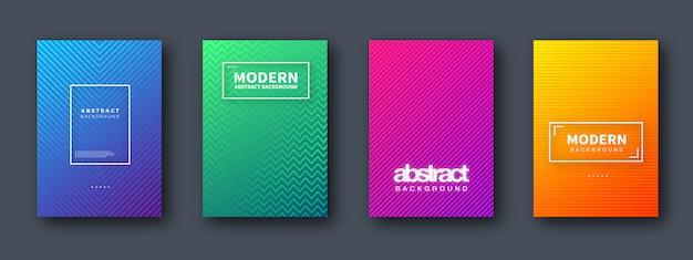 Ensemble de conception moderne de la couverture