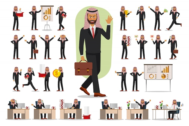 Ensemble de la conception des personnages d'affaires