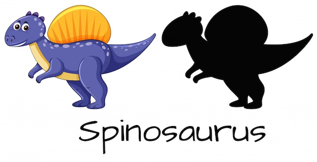 Ensemble de conception de spinosaurus