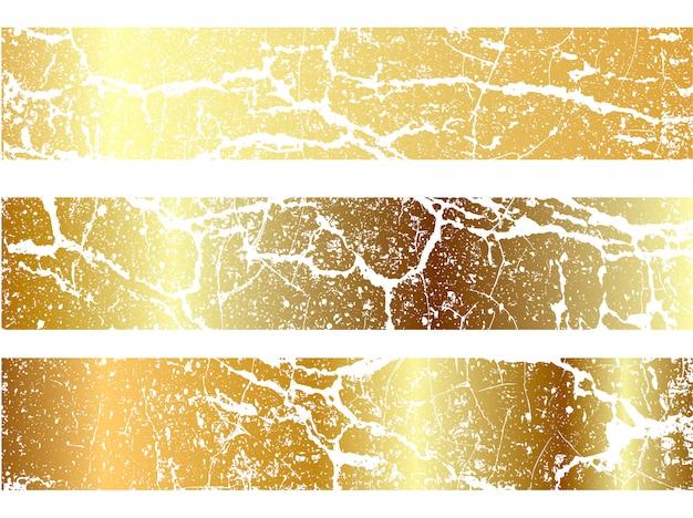 Ensemble de conception de texture de marbrure d'or