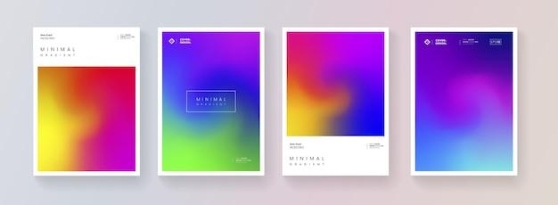 Ensemble de conception de vecteur de fond de couleur douce. collection de décors dégradés colorés abstraits. modèle moderne.