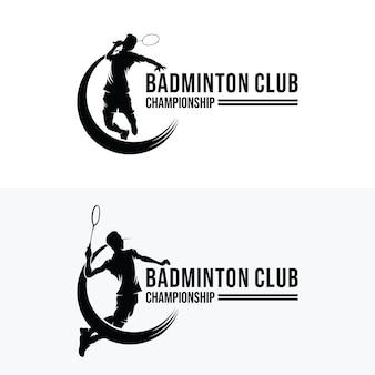 Ensemble de conceptions de logo badminton smash
