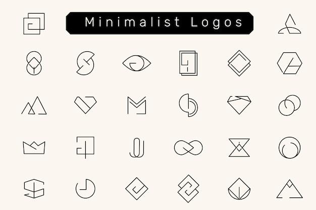 Ensemble de conceptions de logo minimales