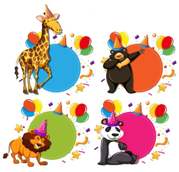 Ensemble de concepts de célébration animale