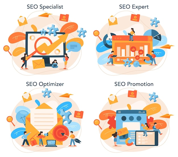 Ensemble de concepts d'optimisation seo
