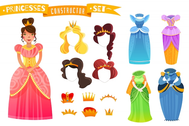 Ensemble de constructeur de princesses