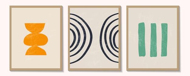 Ensemble contemporain branché d'affiches minimalistes géométriques créatives abstraites