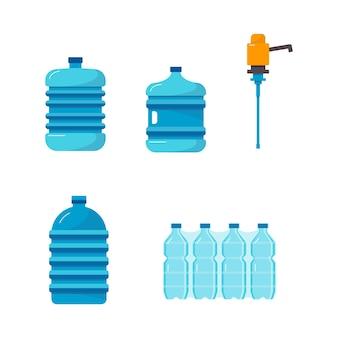 Ensemble de conteneurs de distribution d'eau