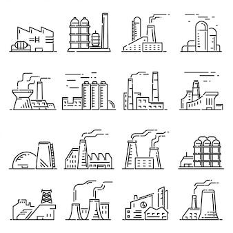 Ensemble de contour de bâtiment d'usine