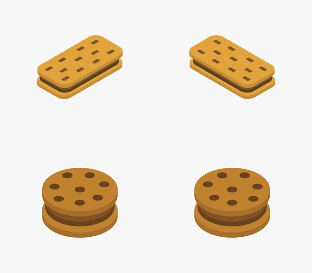 Ensemble de cookies isométriques