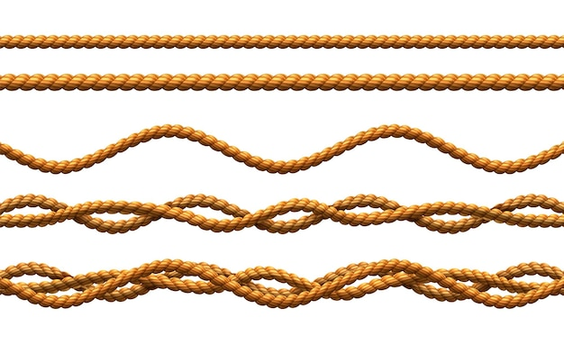 Ensemble de cordons torsadés et ondulés