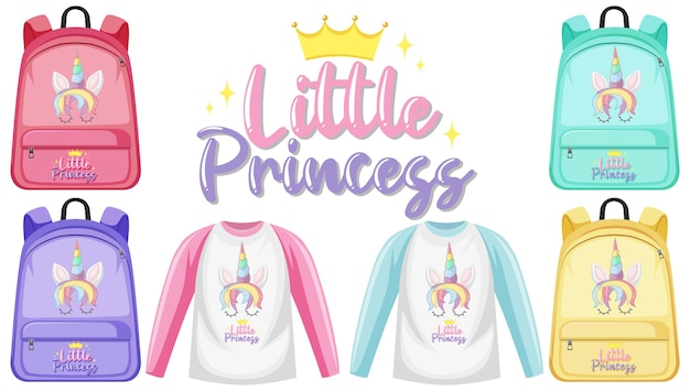 Ensemble de costume avec logo de licorne