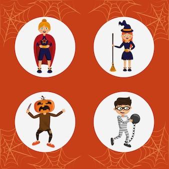 Ensemble de costumes d'halloween pour enfants