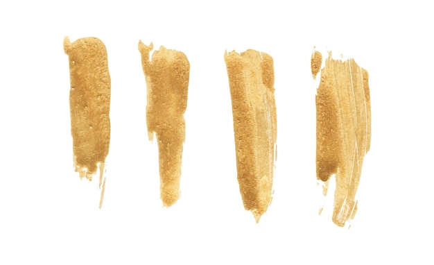 Ensemble de coup de pinceau doré