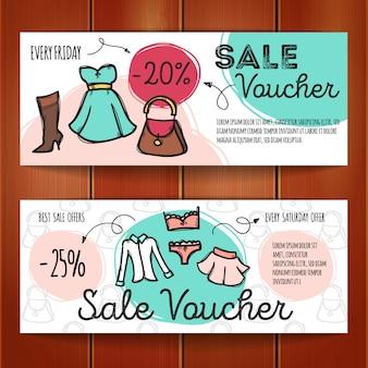 Ensemble de coupons de réduction pour les vêtements femme