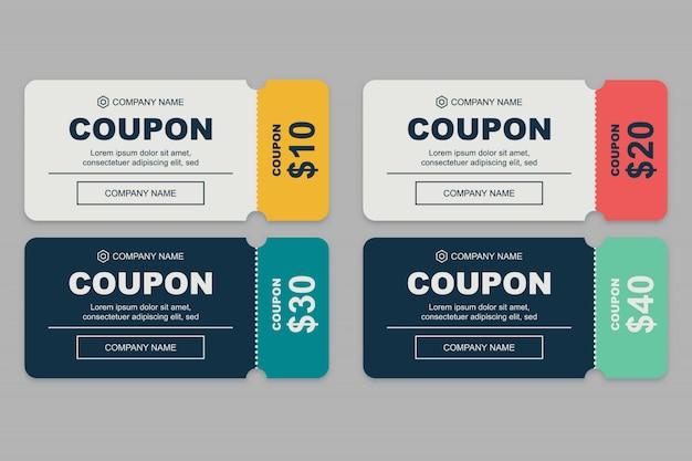 Ensemble de coupons simples