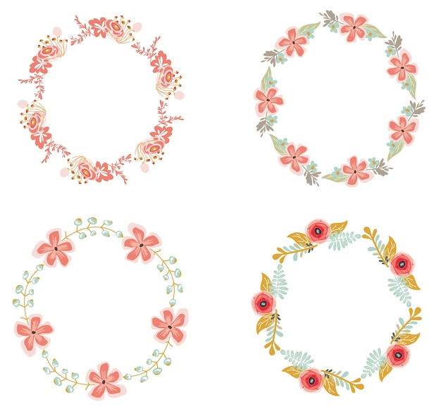 Ensemble de couronne florale pour le mariage