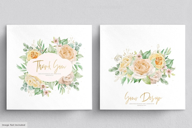 Ensemble de couronnes et bouquets floraux élégants dessinés à la main aquarelle
