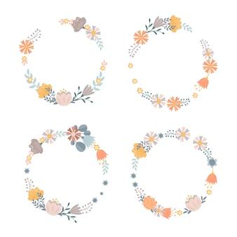 Ensemble de couronnes florales
