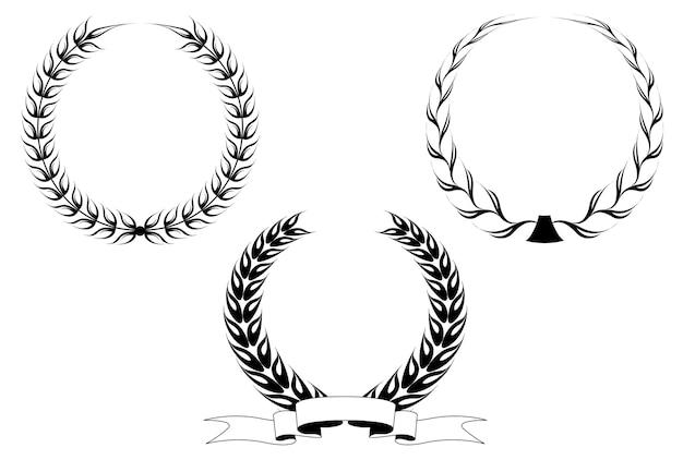 Ensemble de couronnes de laurier