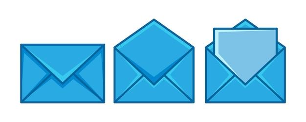 Ensemble de courrier enveloppe