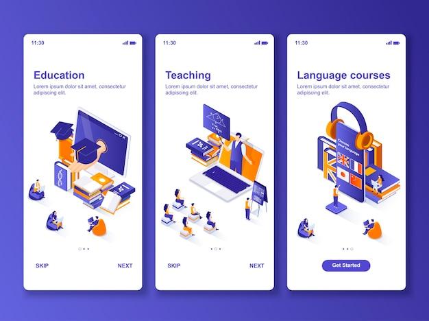 Ensemble de cours de langues applications isométrique