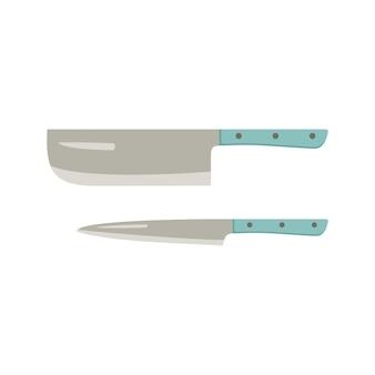 Ensemble de couteaux de cuisine. articles pour la cuisson de la viande, du poisson et d'autres produits