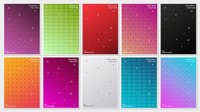 Ensemble de couverture abstrait coloré minimal couvre design de modèle.