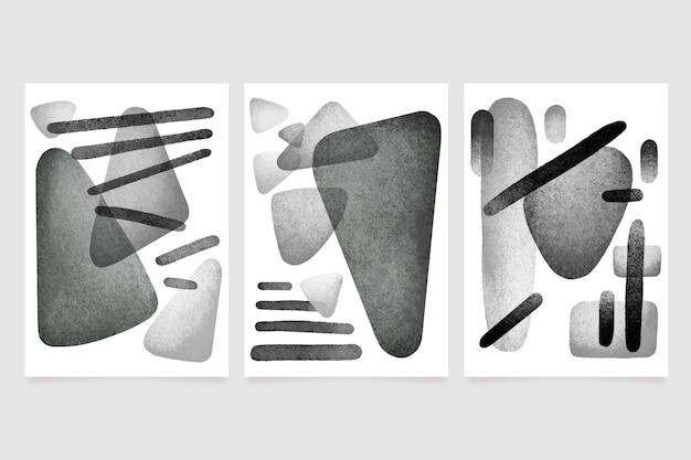 Ensemble De Couverture Aquarelle Abstraite Incolore Vecteur gratuit