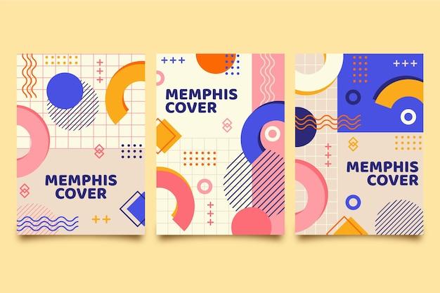 Ensemble de couverture design memphis