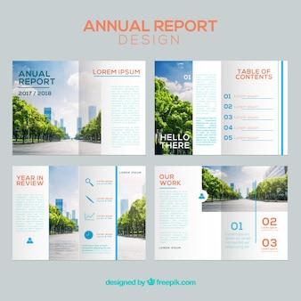 Ensemble De Couverture Du Rapport Annuel Vecteur gratuit
