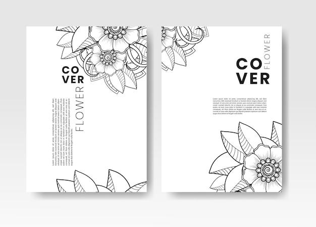 Ensemble de couverture avec fleur de mehndi