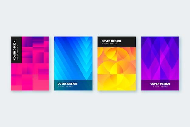 Ensemble de couverture de formes dégradées abstraites