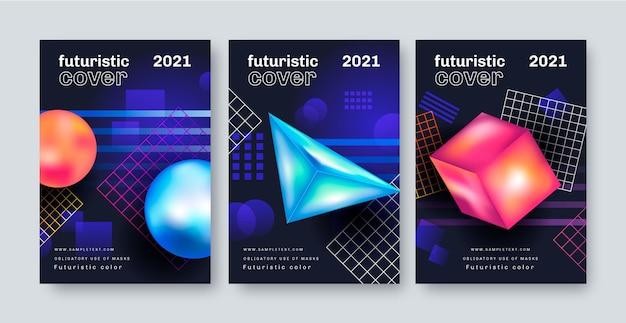 Ensemble de couverture futuriste dégradé