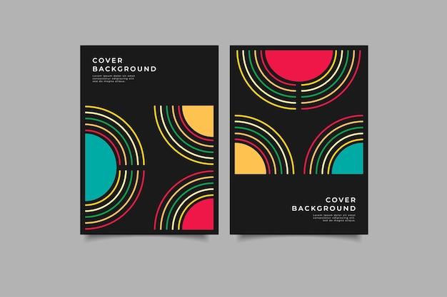 Ensemble de couverture géométrique abstraite en couleur
