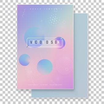 Ensemble de couverture holographique moderne furistique. style rétro années 90, années 80.